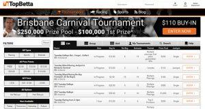 TopBetta tournaments